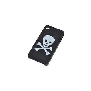 UV Reactive Skull Pattern Plastic Protective Back Cover for iPhone 4