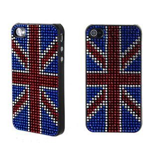 Productive Crystal Plastic Flag Hard Case for iPhone 4