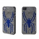 Productive Crystal Plastic Spider Hard Case for iPhone 4