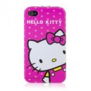 Hello Kitty Pattern Plastic Back + Front Case for iPhone 4