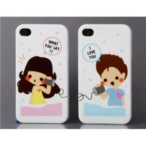 Couple Plastic Case for iPhone 4