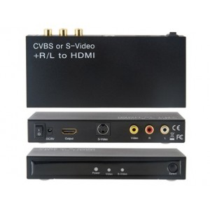 Analog CVBS, S-VIDEO, Audio (L/ R) to HDMI Signal Converter