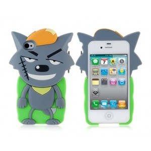 Cartoon Big Big Wolf Shaped Protective Case for iPhone 4/4S