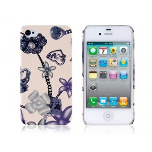 Diamond Pattern Design PC Protective Case for iPhone 4 & 4S