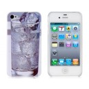 Ice Cool Water Pattern PC Matting Protective Case for iPhone 4/4S