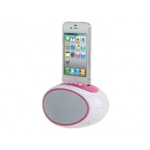 USB Speaker for iPhone 4/ 4S with FM Radio and TF Card Slot
