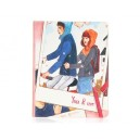 Lovers Pattern PU Leather Flip Case with Stand Function for The new iPad / iPad 3