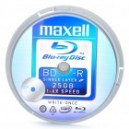 Genuine MAXELL BD-R Recordable 25GB 4X Speed Write-Once Blu-Ray Disc (10-Piece Set)