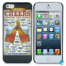 Beer Cheers Style Protective PC Back Case for iPhone 5 - Gold + Black