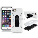 2-In-1 Plastic & Silicone Case with Robbot Design Mount Stand Holder for 4.7'' iPhone 6 (White)