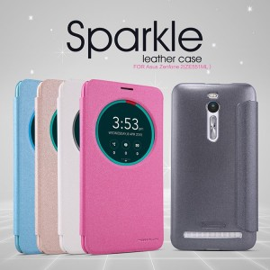 Nillkin sparkle smart leather case cover for Asus ZenFone 2 ZE551ML ZE550ML