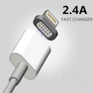 2.4A Magnetic Lightning USB/Micro Data Charing USB Cable for Apple iPhone and Android Mobile Phone